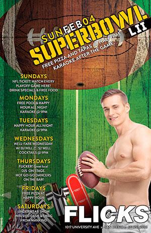 Super Bowl 2018 - Flicks - The Best San Diego Gay Bar
